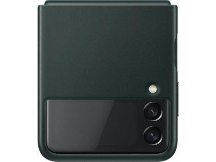Samsung Kožený zadní kryt Z Flip3 Green