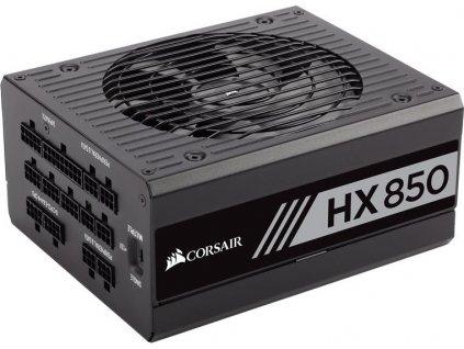 CORSAIR zdroj, HX850-80 PLUS® PLATINUM Certified PSU (ATX, 850W, Modular)