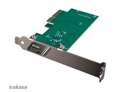 AKASA síťová karta USB 3.2 HOST card, 20Gbps USB 3.2 Gen 2x2 Internal 20-pin Connector to PCIe Host Card