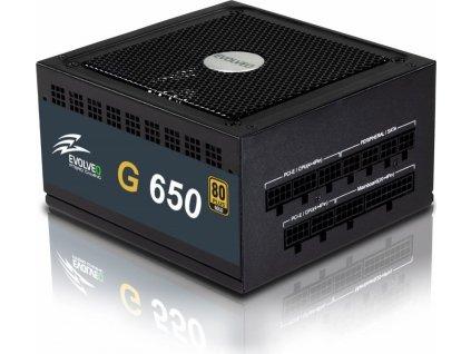 EVOLVEO G650 zdroj 650W, 80+ GOLD, 90% účinnost, aPFC, 140mm ventilátor, retail