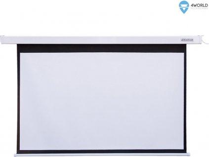 """4World Projekční plátno elektrické DO 145x110 72"""" 4:3"""
