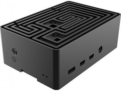 AKASA case Maze, pro Raspberry Pi 4, hliník, černá