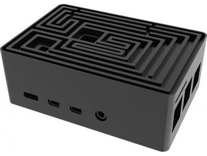 AKASA case Maze Pro, pro Raspberry Pi 4, hliník, černá