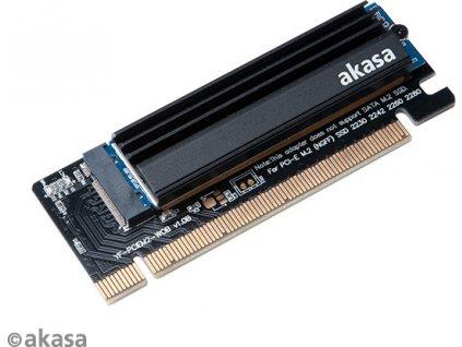 AKASA adaptér M.2 SSD to PCIe adapter card with heatsink cooler