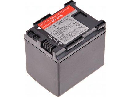 Baterie T6 power Canon BP-819, BP-808, BP-809, 1720mAh, 12,7Wh, černá