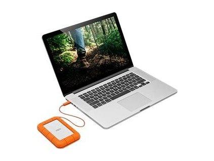 LACIE RUGGED 1TB USB-C USB3.0 Drop crush and rain-resistant for all terrain use orange
