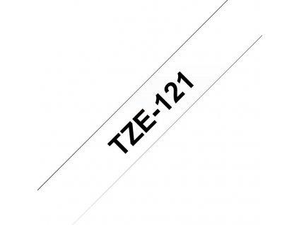 BROTHER TZE121 - kazeta TZ šířky 9mm, laminovaná TZE-121, průsvitná/černé písmo