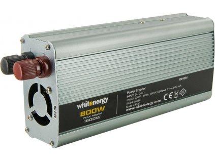 WHITENERGY 06586 Whitenergy napäťový menič AC/DC z 24V na 230V 800 W, USB
