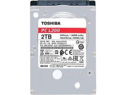 Toshiba HDWL120UZSVA HDD L200 2.5, 2TB, SATA, 128MB cache, 5400RPM BULK