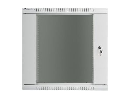 """Lanberg 19"""" Rack, 12U/450mm, sklenené dvere, šedý"""