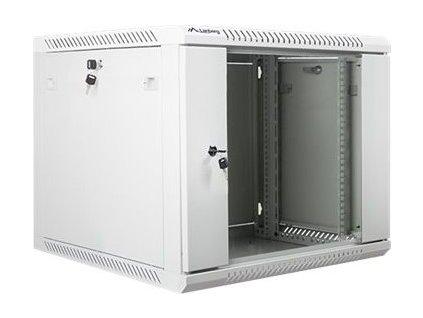 """Lanberg 19"""" Rack, 9U/600mm, sklenené dvere, šedý 3634858"""