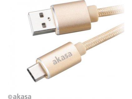 Akasa AK-CBUB34-10GL SB 2.0 typ C na typ A, 1m