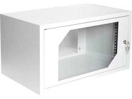 "Digitus 19"" Rack, 6U/350mm, sklenené dvere, šedý"