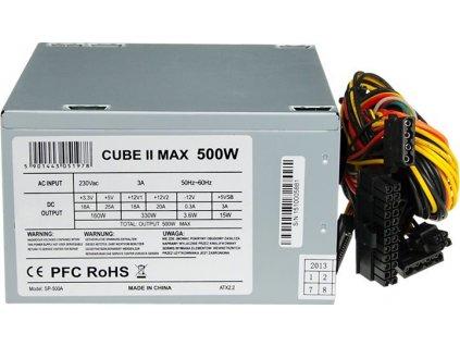 IBOX ZIC2500W12CMFA I-BOX PC zdroj CUBE II ATX 500W 12 CM FAN