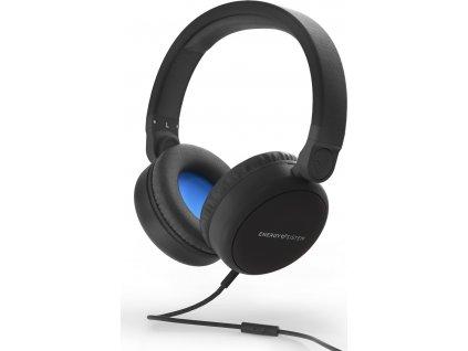 Energy Sistem Headphones Style 1 Talk Midnight black sluchátka s temením mostem a 3,5 mm konektorem,