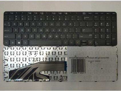 NTSUP Klávesnice HP Probook 450 g3 černá ENG