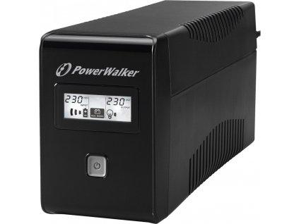 POWERWALK VI 650 LCD Power Walker UPS Line-Interactive 650VA 2x SCHUKO, RJ11, USB, LCD