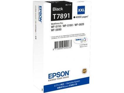 """EPSON Ink čer WF-5xxx Series Ink Cartridge """"Pisa"""" XXL Black (65,1 ml)"""