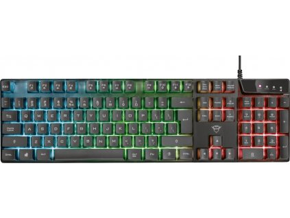 TRUST herní klávesnice GXT 835 Azor Illuminated Gaming Keyboard CZ/SK