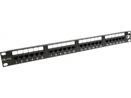 Solarix SX24-6-UTP-BK Patch panel 24x RJ45 CAT6 UTP čierny 1U (350 MHz)