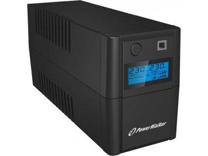 POWERWALK VI 850 SHL FR Power Walker UPS Line-Interactive 850VA 2x 230V EU OUT, RJ11 IN/OUT, USB, LCD