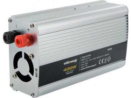WHITENERGY 06582 Whitenergy napäťový menič AC/DC z 24V na 230V 400 W, USB