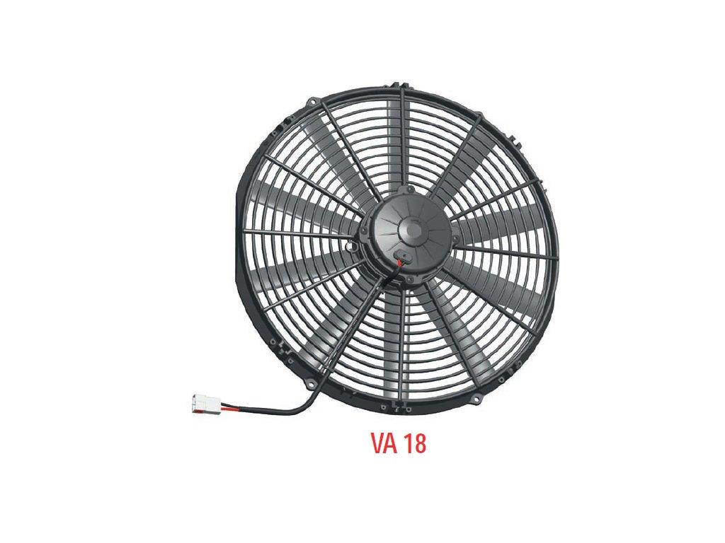 Ventilátor SPAL 12V VA18-AP51/C-41A (385 mm)