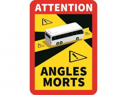 Samolepka mrtvý úhel Francie autobus