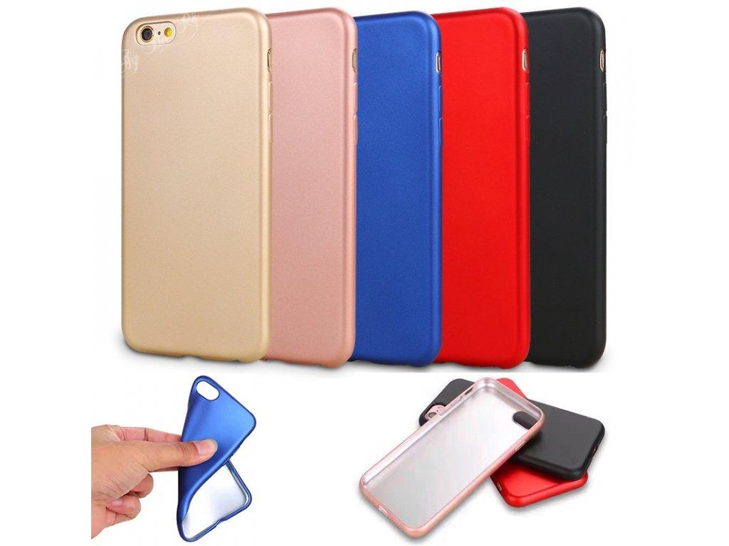 Kryt Soft Metal na iPhone 6  / 6S (Barva Red)