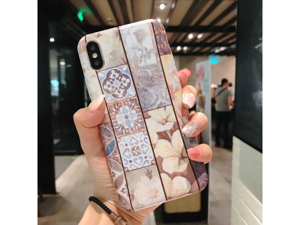 Kryt Retro Flowers na iPhone 6 / 6S
