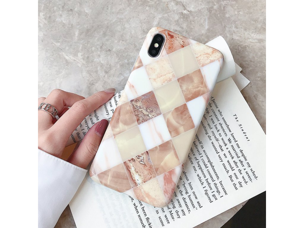 Kryt Retro Marble na iPhone 8