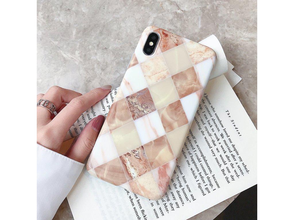 Kryt Retro Marble na iPhone 8 Plus