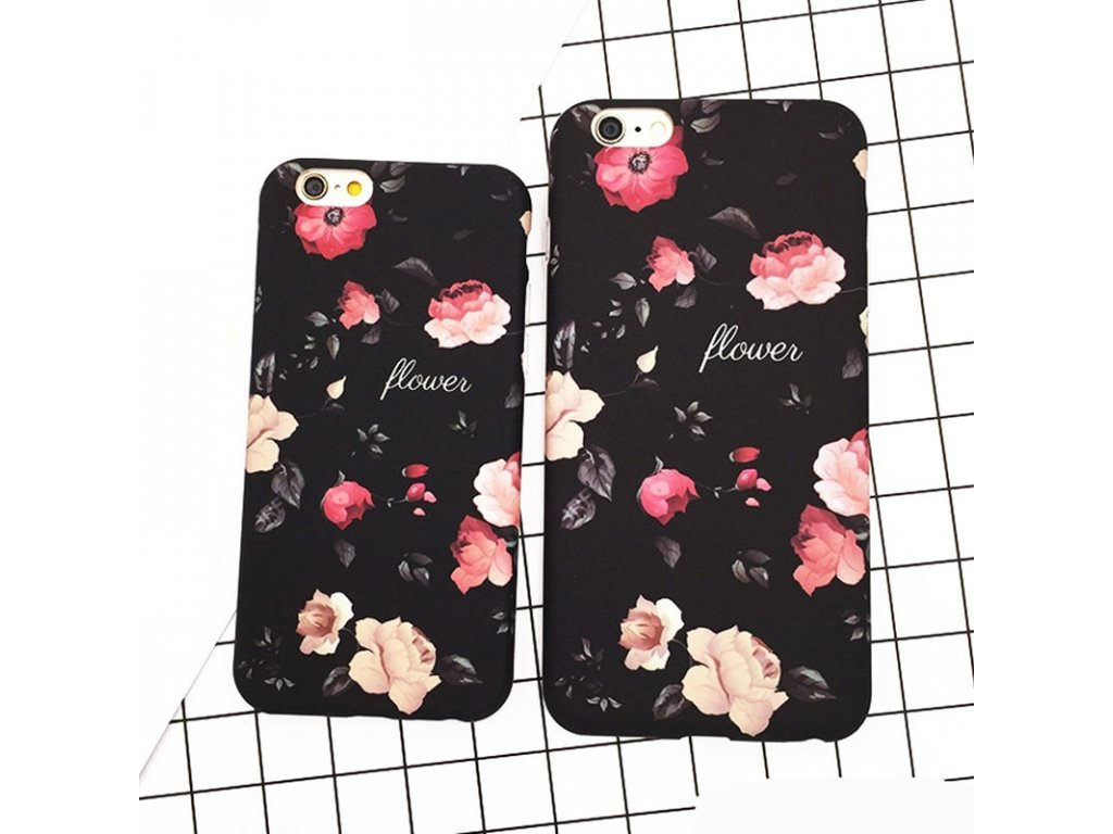 Kryt Floral Black na iPhone 5 / 5S / SE