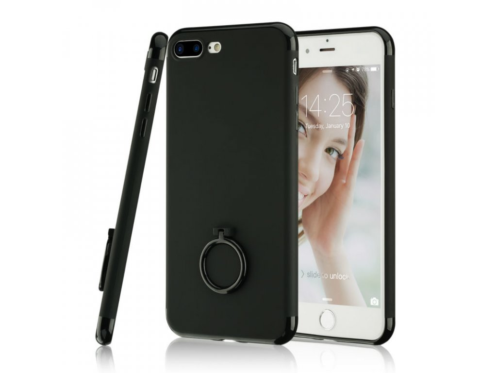 Kryt Simple Black Holder na iPhone 5 / 5S / SE