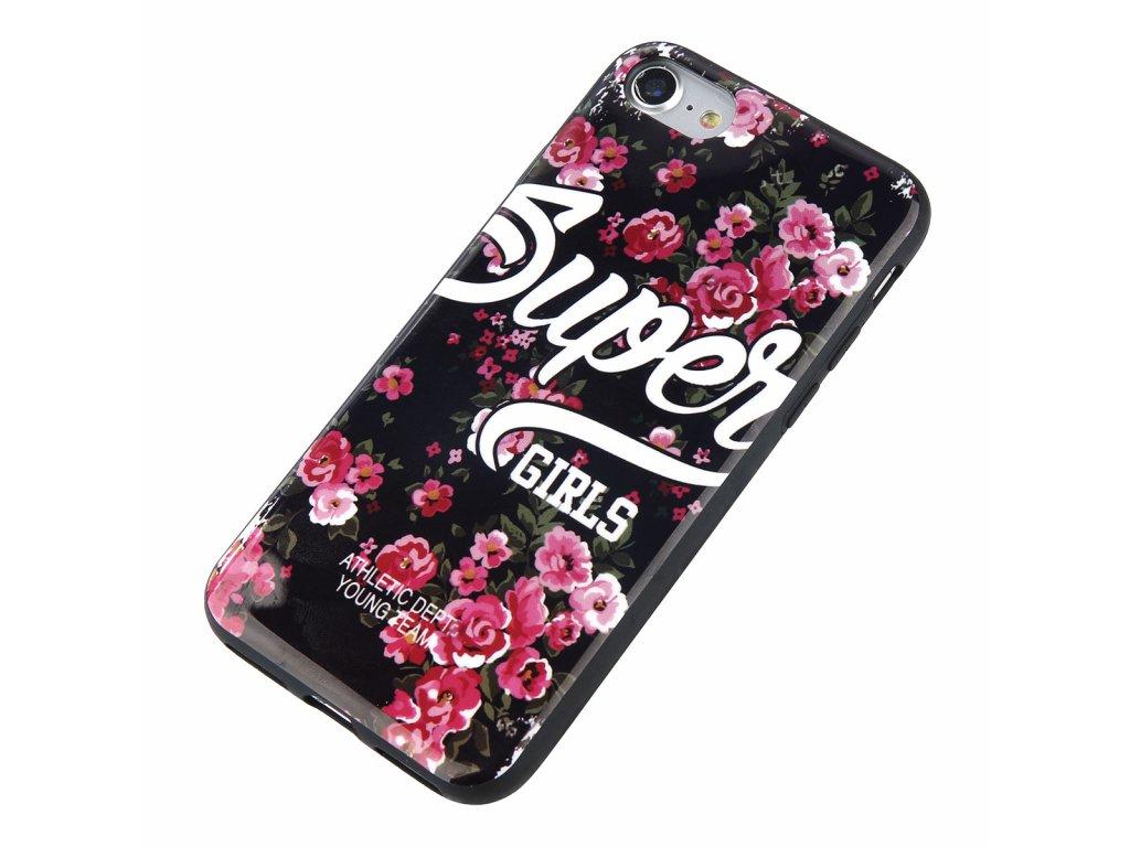 Kryt Super Girls Floral na iPhone 5 / 5S / SE