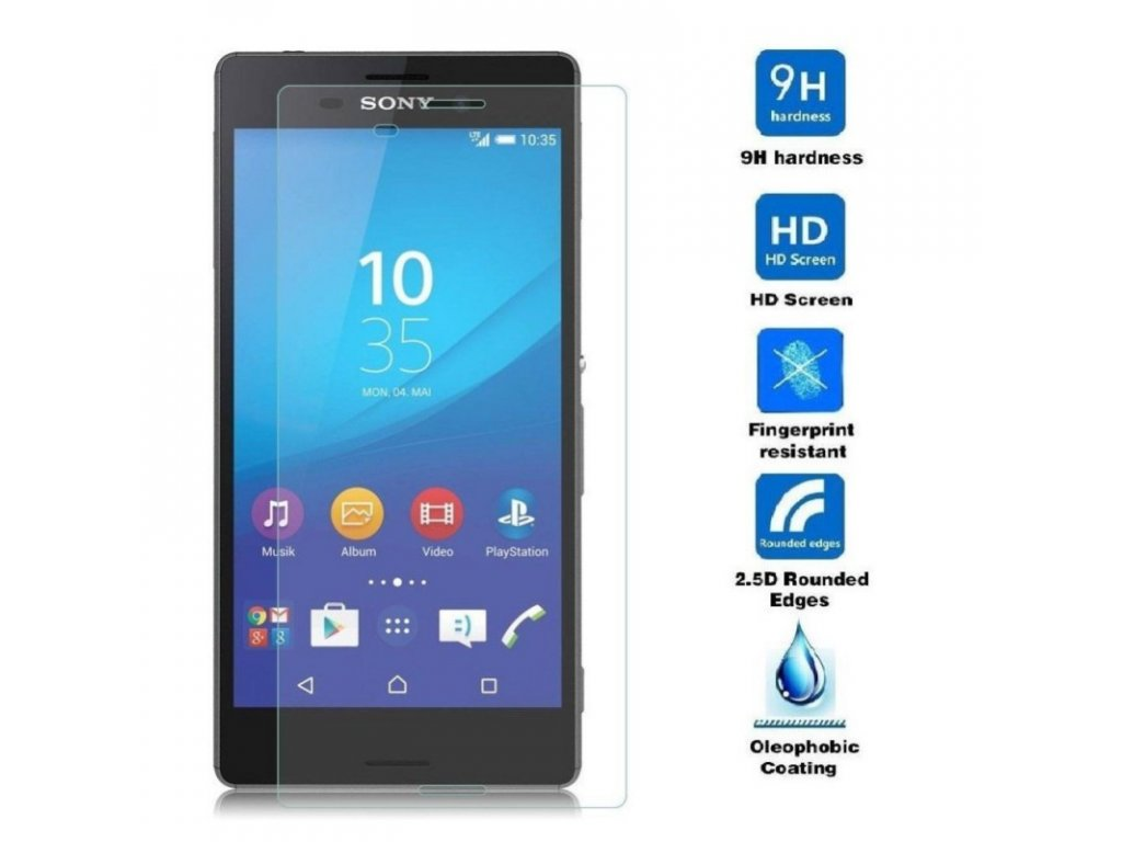Tvrzené sklo 9H na Sony M4