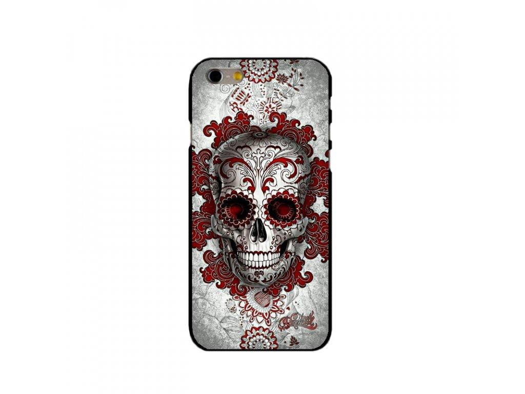 Kryt Tatooed Floral Skull na iPhone 6 / 6S