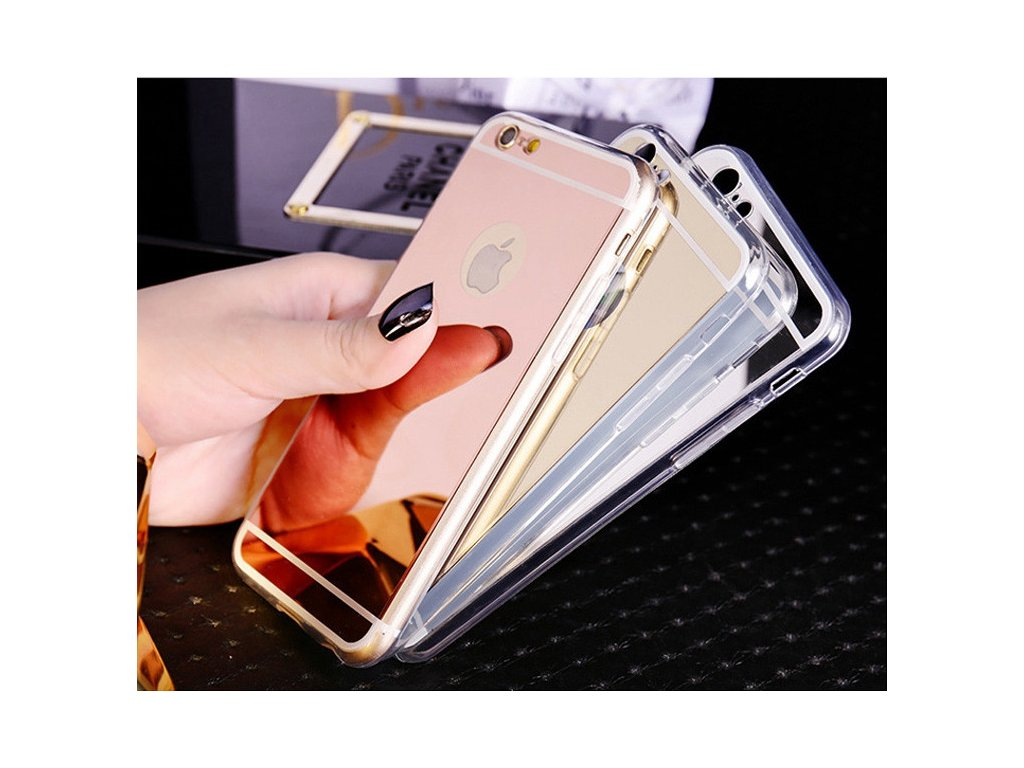 Zrcadlový kryt mirror na iPhone 8 Plus (Barva Black)
