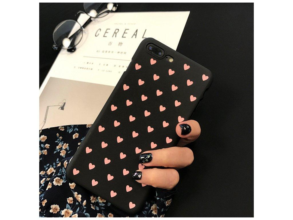 Kryt Little Heart Black na iPhone 8 Plus