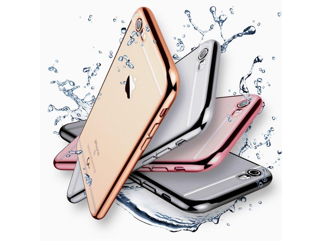 Silikonový kryt - Metal Ring na iPhone 8