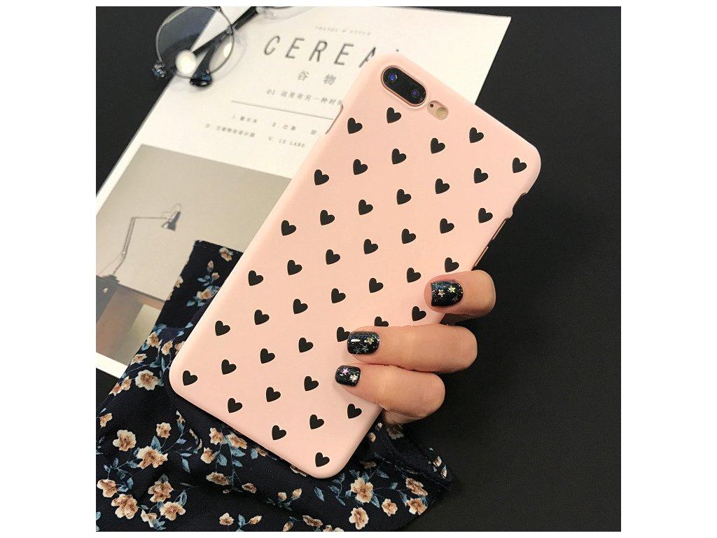 Kryt Little Heart Pink na iPhone 8