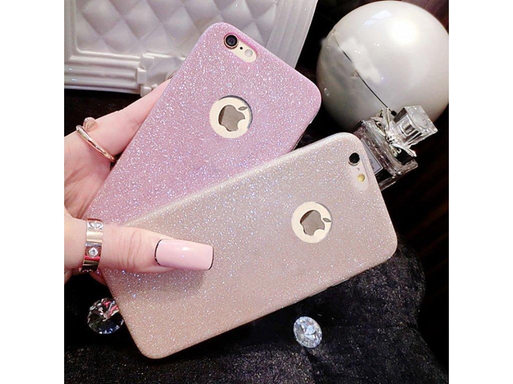 Silikonové třpitivé pouzdro na iPhone 6 Plus / 6S Plus (Barva stříbrná)