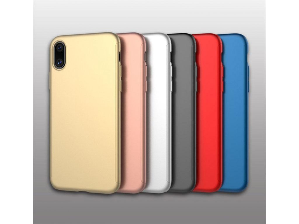 Kryt 360° Premium Armor + tvrzené sklo na iPhone X / XS