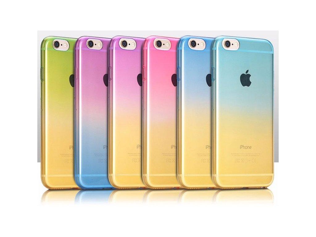 silikonový duhový kryt na iPhone 7  / 7 Plus
