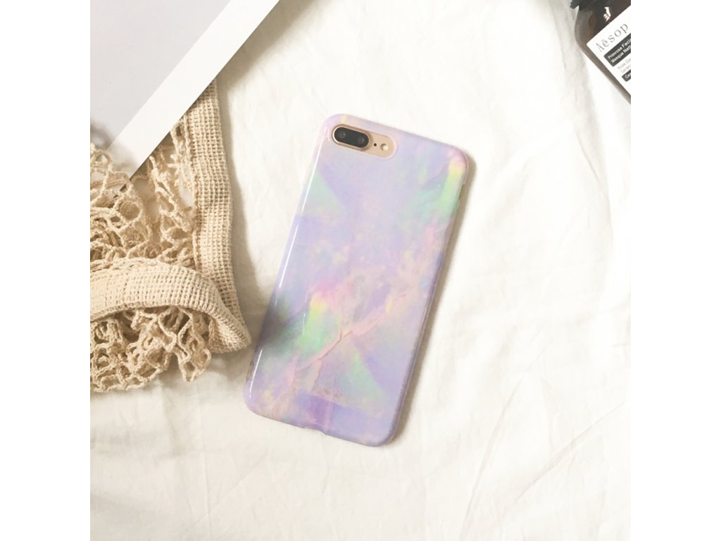 Kryt Violet Marble na iPhone 1