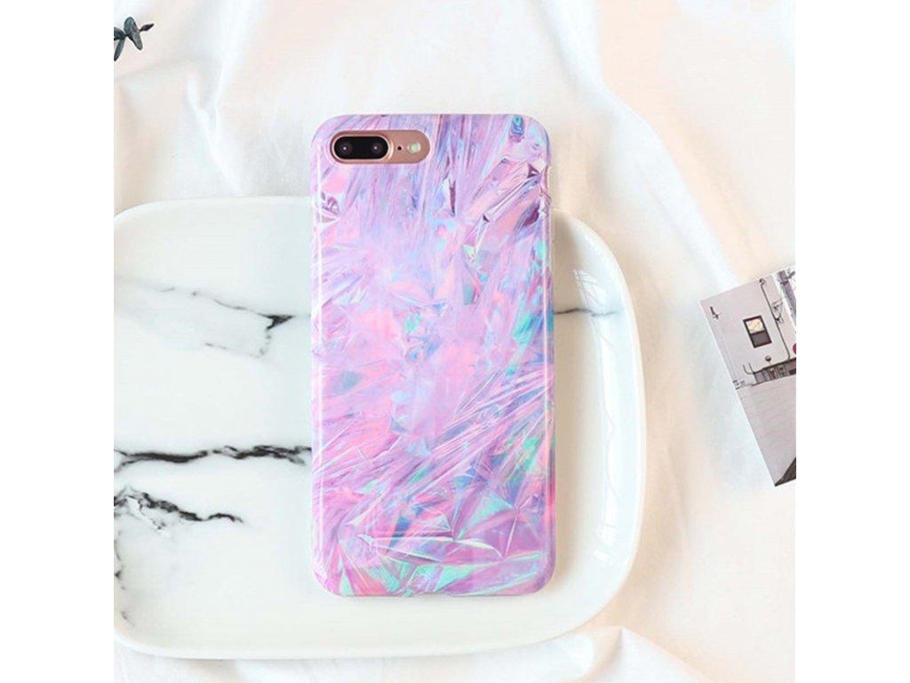 Kryt Violet Ice Lines na iPhone 7 Plus