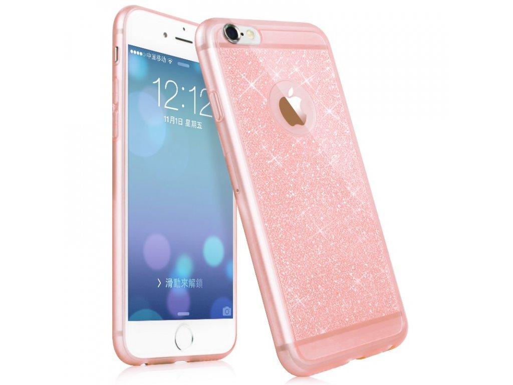 Luxusní silikonové pouzdro na iPhone 6 / 6S (Barva růžová)
