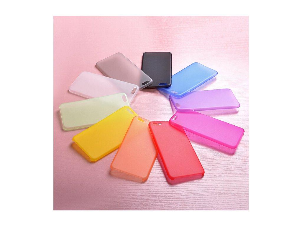 Matné pouzdro na iPhone 5 / 5S / SE (Barva oranžová)