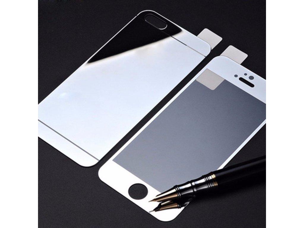 Tvrzené zrcadlové sklo 9H (přední + zadní) na iPhone 5 / 5S / SE
