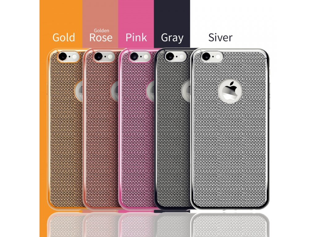 Silikonové pouzdro na iPhone 6 / 6S (Barva stříbrná)